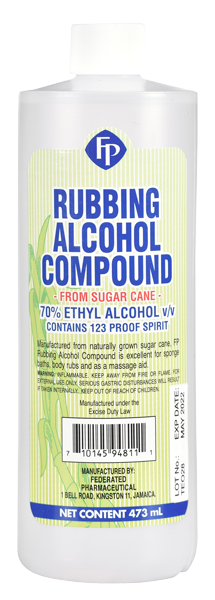 Rubbing-Alcohol-Compound-473mL - Federated Pharmaceutical